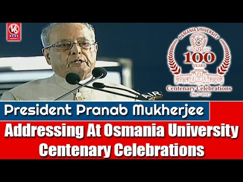 President Pranab Mukherjee Addressing At Osmania University Centenary Celebrations | V6 News