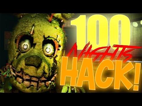 FNAF 3 100 NIGHTS GLITCH!(FNAF 3 Hack, FNAF 3 Parody)
