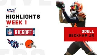 OBJ Browns Debut | NFL 2019 Highlights
