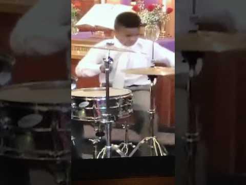 Caleb Emerson plays drums at Ray Daniels 2017 Student Recital.