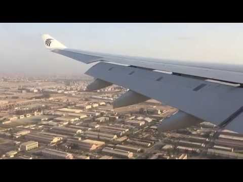 Egyptair A330-300 landing at cairo airport Runway 5R