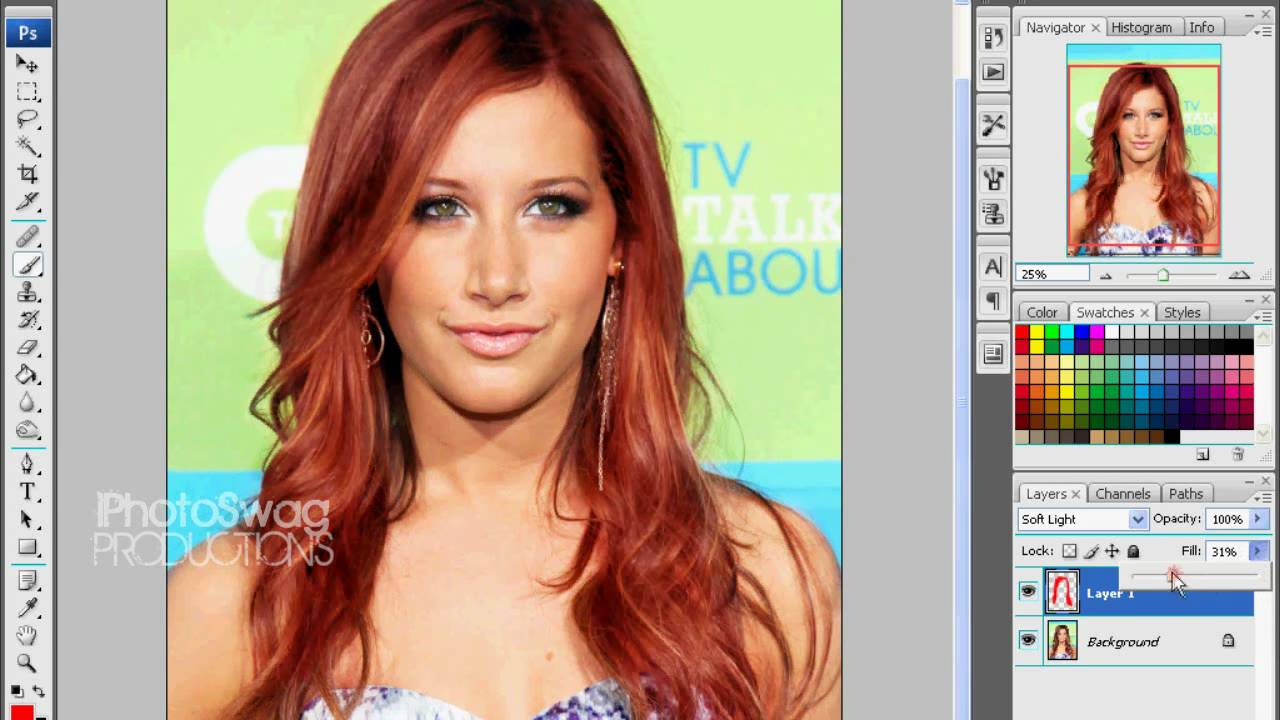 Ashley Tisdale Red Hair Green Eyes Photoshop Makover Hd