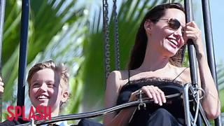 Angelina Jolie and Kids Enjoy Disneyland For Twins' 9th Birthday | Splash News TV