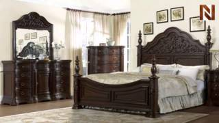 Pulaski Cassara Bedroom Queen Complete Bed 5181+50+51+52