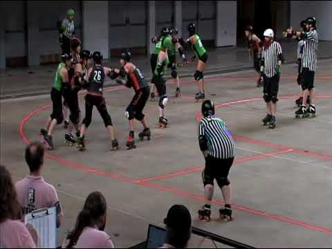 Capital City Derby Dolls Dolly Rogers vs Rage City Rollergirls All*Stars : Midwest BrewHaHa 6/3/17