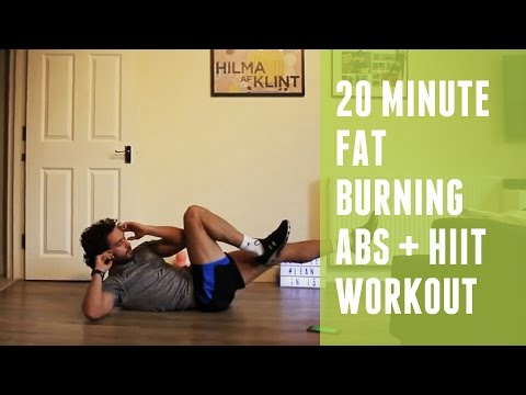 20 Minute Fat Burning HIIT & Abs Workout | Home HIIT