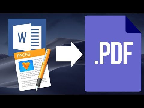 How To Save Microsoft Word File As PDF In Mac Using Word & Apple Pages