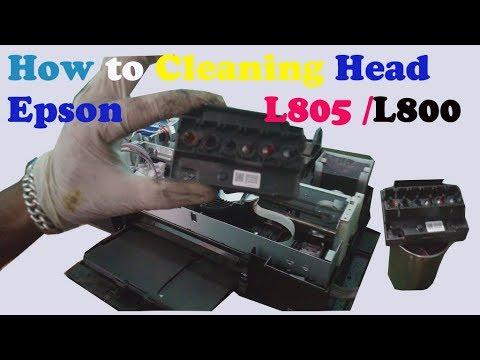 How to Clean Epson Block Head on Epson L805/L800 Printer detail information