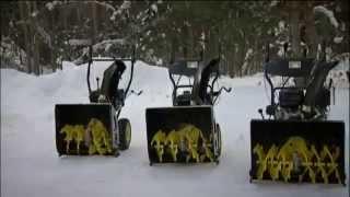 видео Снегоуборщики Champion (Китай)