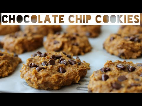 Healthy Chocolate Chip Cookies Recipe   How To Make Healthy Chocolate Chip Pumpkin Spice Cookies