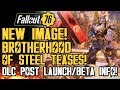 Fallout 76 - New Brotherhood of Steel Teases! NEW IMAGE! PS4 Beta Update! DLC Post Launch!