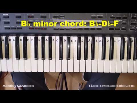 How to Play the B Flat Minor Chord - Bb Minor on Piano and ...