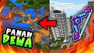 Cara Bikin Panah DEWA Terbaru Super Mematikan di MCPE (no mod) - Minecraft Indonesia