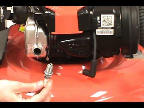 Replacing The Spark Plug Husqvarna Lawn Mower Youtube