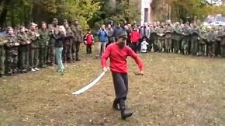 Выступление с шашкой Богдана Гайденко на казачьем празднике Сполох.