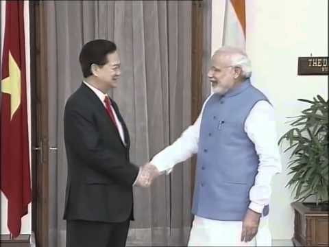 PM Modi & Prime Minister of Vietnam, Nguyen Tan Dung arrival at Hyderabad House