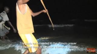Охота на крокодила в самом маленьком племени Эльмоло