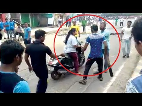 Watch: BJD workers attack woman during protest against fuel