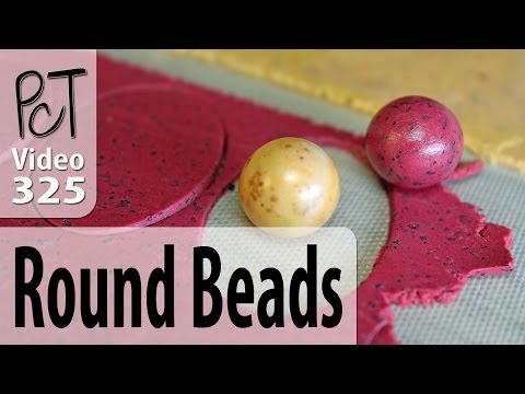 Making Round Polymer Clay Beads That Are Actually Round