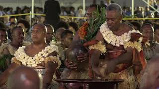 Duke of Sussex Drinks the First Welcoming Bowl of Kava