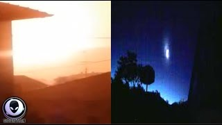 MYSTERIOUS SPHERE Lights Up Sky Over Italy 7/25/17