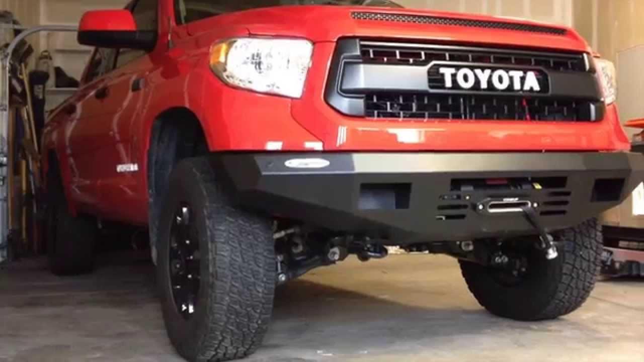 Toyota Tundra Bumper TCT Explorer 2015 Toyota Tundra Bumper + Winch Install ...