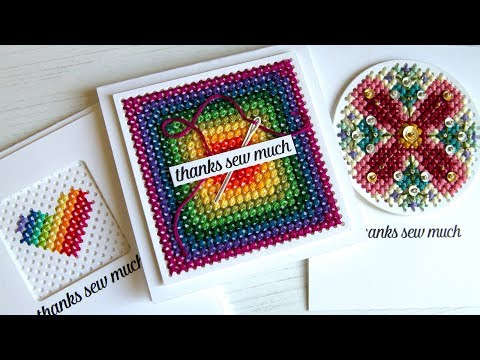 Cross Stitching on Cards Update