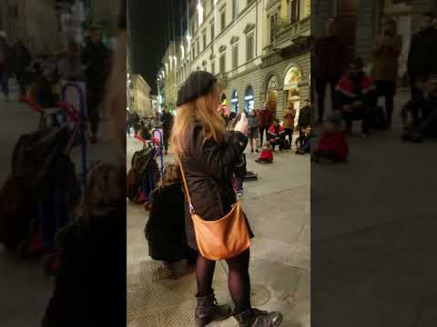 Street Music In Florence Italy