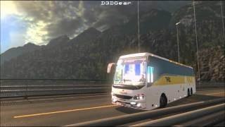 Volvo bus mod for ETS2 with skins of Indian B7R, B9R, B11R