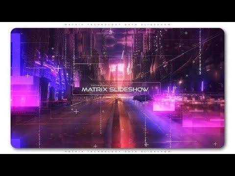 Matrix Technology Data Slideshow - After Effects Template - YouTube