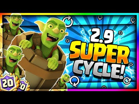 ULTIMATE 2.9 SUPER FAST CYCLE GOBLIN BARREL DECK!! Clash Royale Best 20 Win Challenge Deck