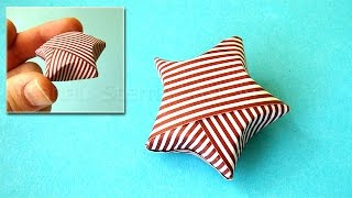 Weihnachtssterne basteln - Weihnachten basteln mit Papier - Origami Stern - DIY Weihnachtsgeschenk
