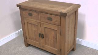Small 1m Country Oak Rustic Sideboard