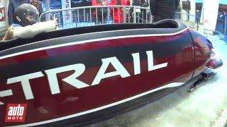On a testé le bobsleigh Nissan X-Trail