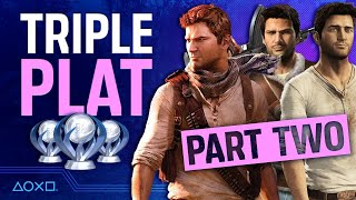 Uncharted: The Nathan Drake Collection - 3 Platinums, 1 Stream! PART 2