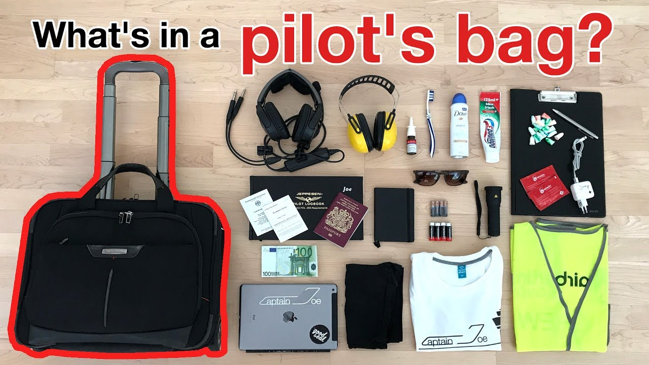 What S In A Pilot Bag You Need And Not