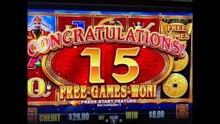 BIG WIN First Attempt★CHOY COIN DOA - DRAGON INGOT Slot Machine, Max Bet $3 San Manuel, Akafuji Slot