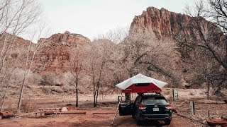 Setting Up Yakima Skyrise Rooftop Tent on 2019 Subaru Forester Sport