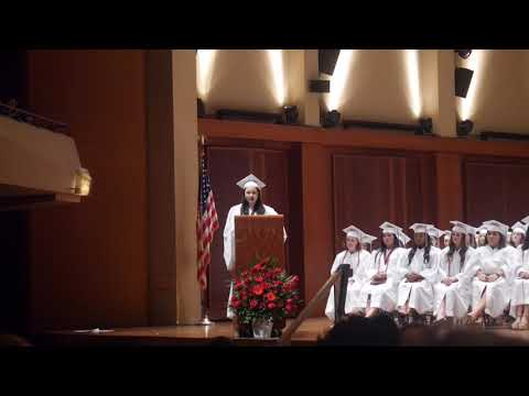Emmy Sohn's Holy Names Academy Commencement Speech