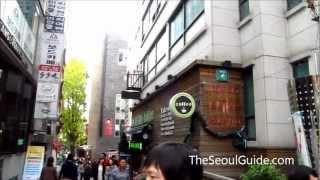 daehangno college street in seoul south korea