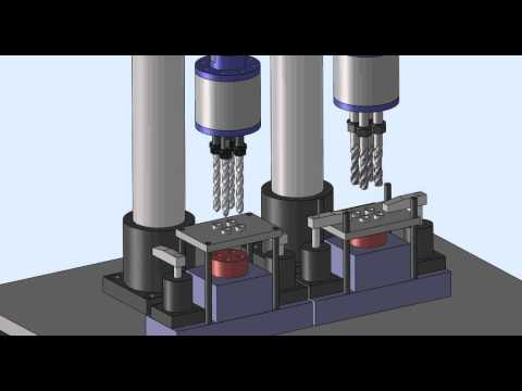 Multi Spindle Head Drilling, Tapping Machine