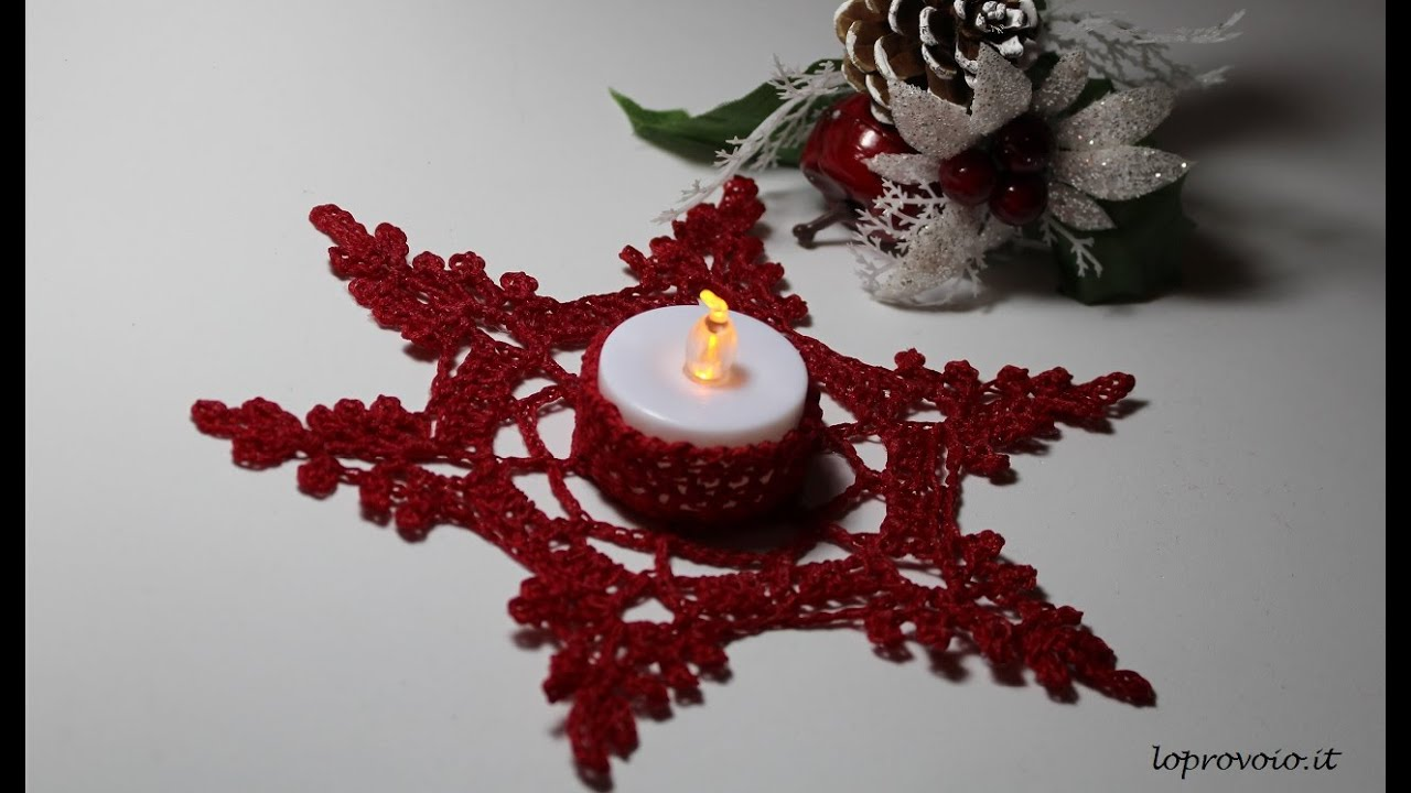 Portacandela Alluncinetto Crochet Candle Holder Youtube