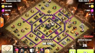 Clash of Clans - TH9 - Crazy Hog Rider attack - Wide base killer