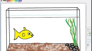 Cara menggambar akuarium ikan untuk anak-anak. Pembibitan sajak lelaki tua ini