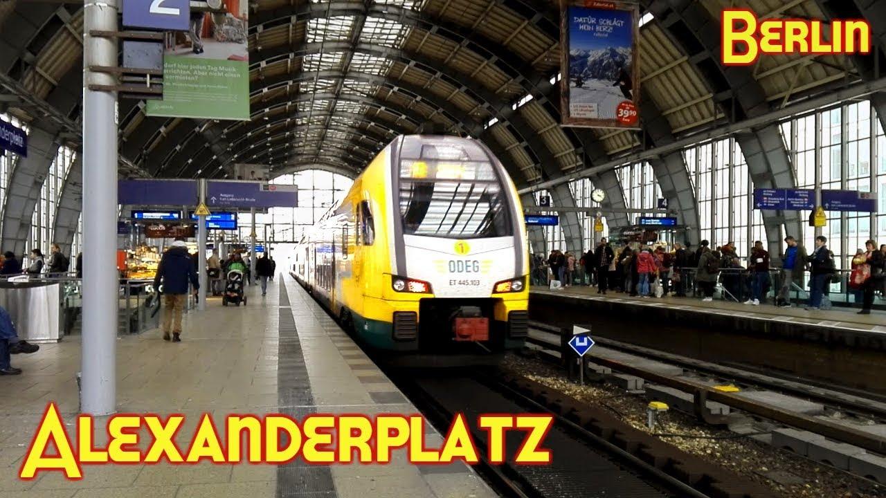 Bahnhof Alexanderplatz : S-Bahn und Regionalbahn Berlin - YouTube
