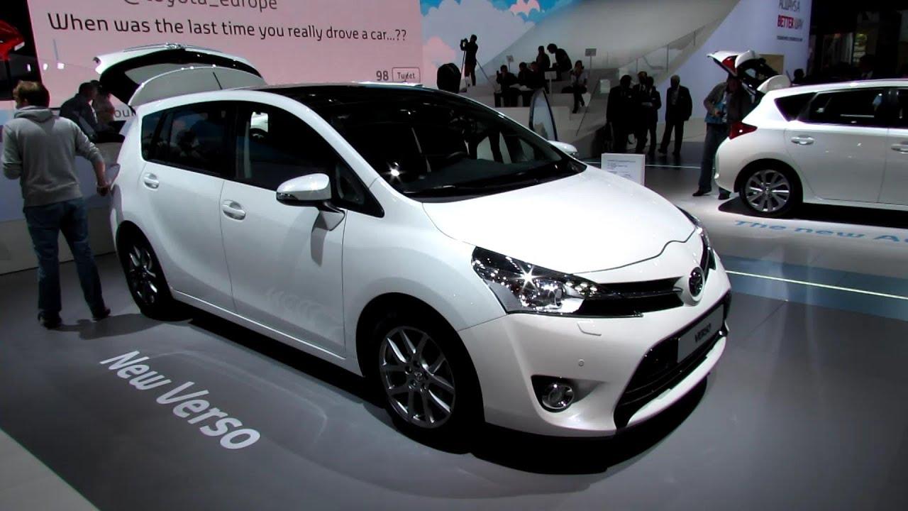 2013 toyota verso diesel 7 seats exterior and interior walkaround 2012 paris auto show [ 1280 x 720 Pixel ]