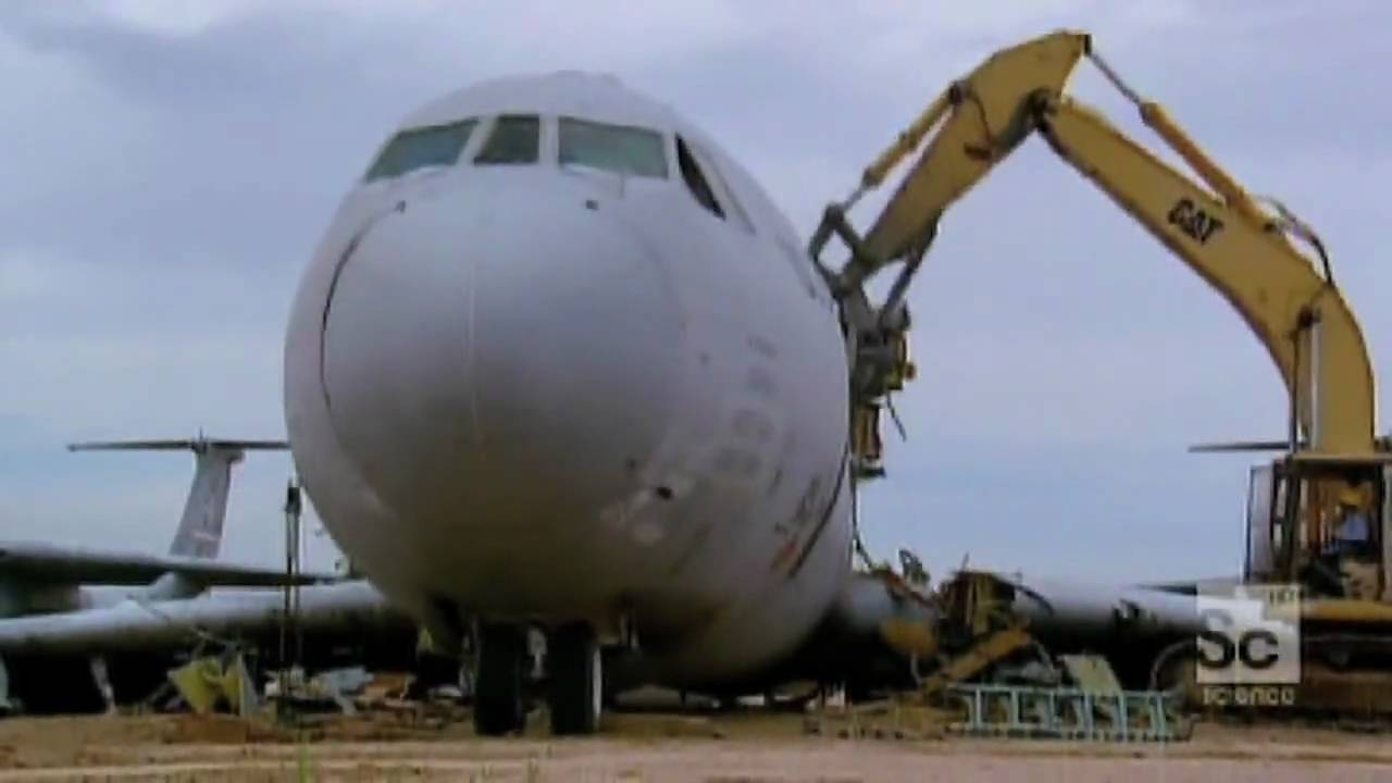 how do they do it airplane recycling youtube
