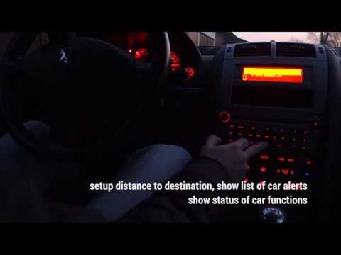 Peugeot 407 computer climatronic dashboard setup options | ustawienia i opcje | Sony RX100 M2 movie