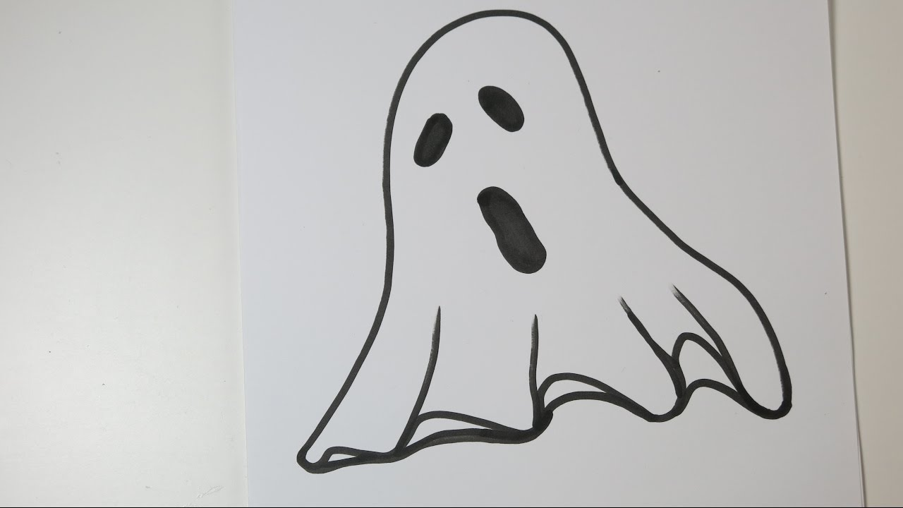 How To Draw A Ghost Easy Drawing Ideas For Halloween Youtube