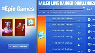The New FALLEN LOVE RANGER REWARDS in Fortnite..